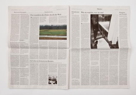 Frankfurter Allgemeine Zeitung / BYE BYE Ausgabe vom 15.04.2010